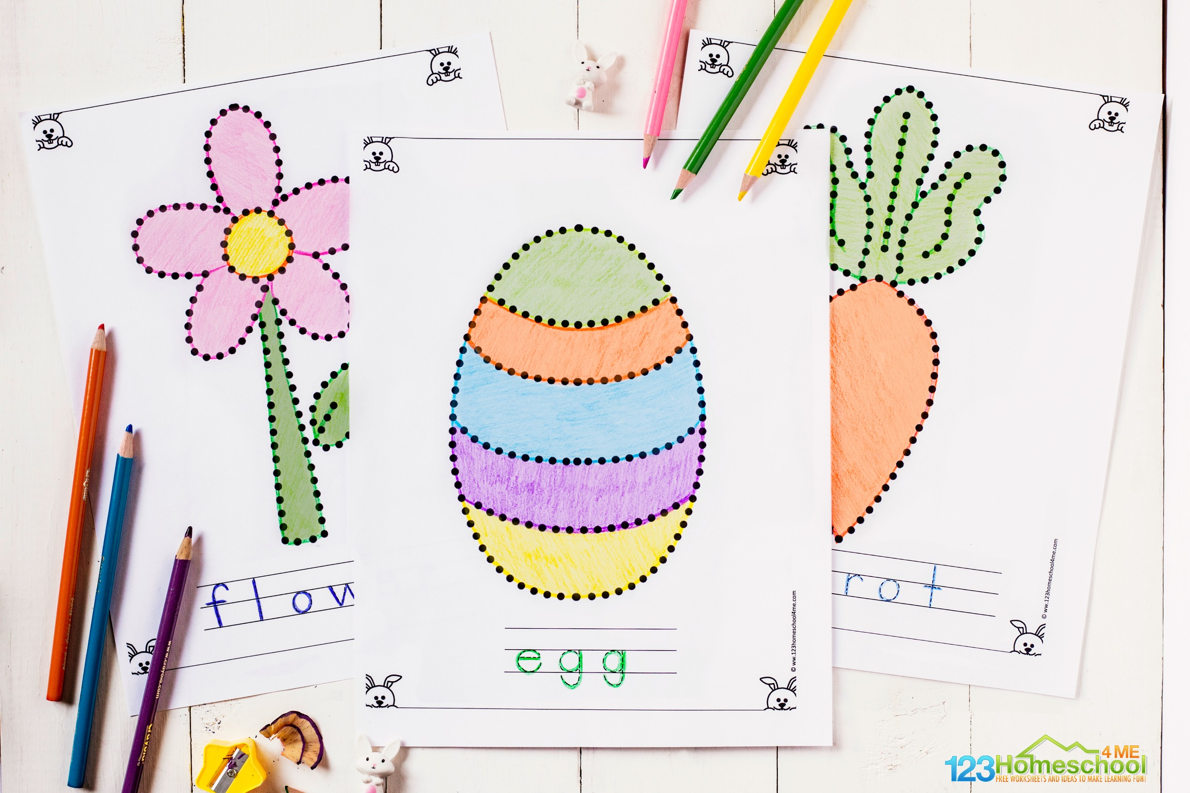 Free Easter Tracing Coloring Pages