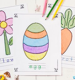 Free Printable Easter Tracing Pages for Toddlers \u0026 Preschoolers [ 1024 x 1537 Pixel ]