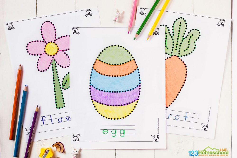 medium resolution of Free Printable Easter Tracing Pages for Toddlers \u0026 Preschoolers