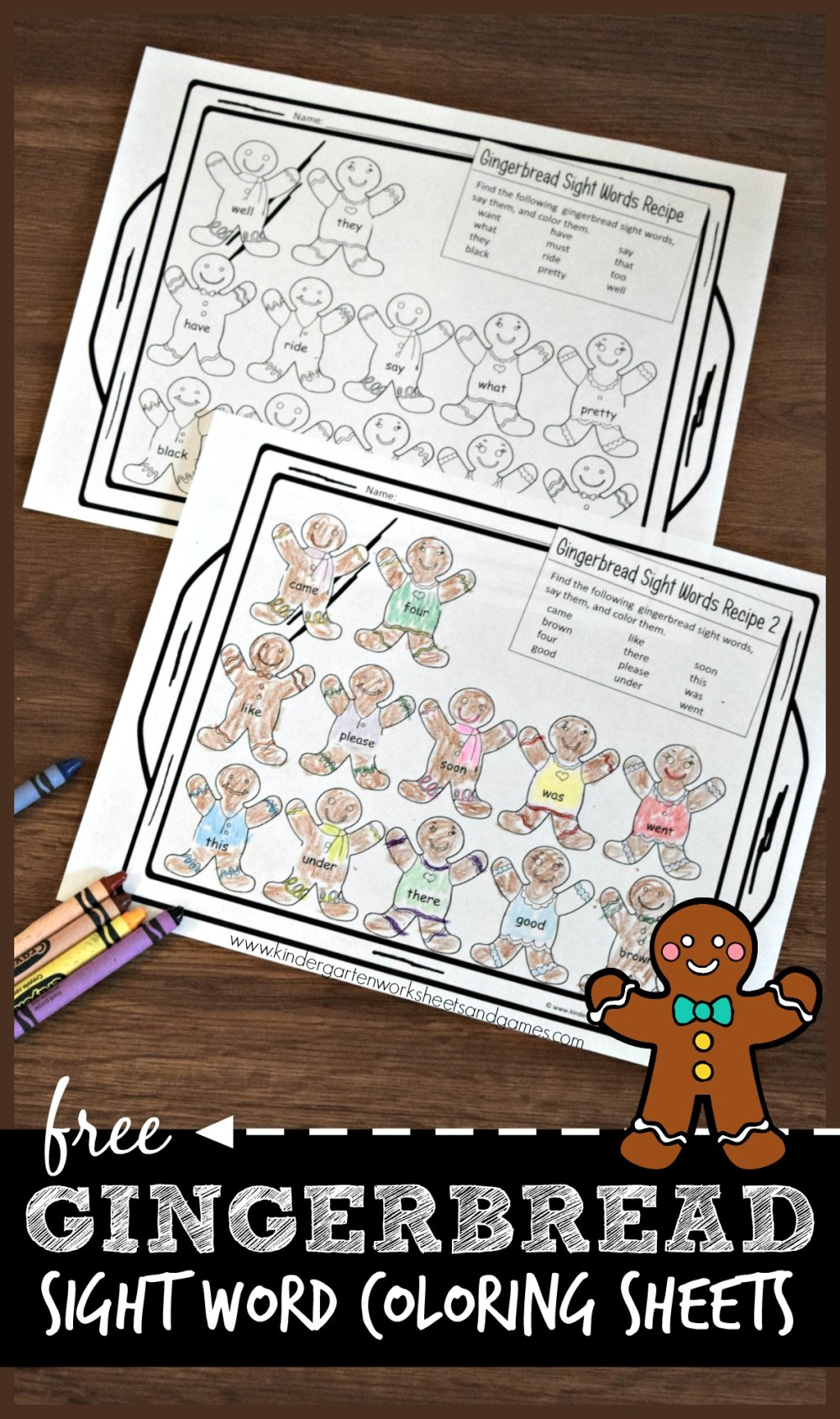 medium resolution of Gingerbread Sight Words Worksheets