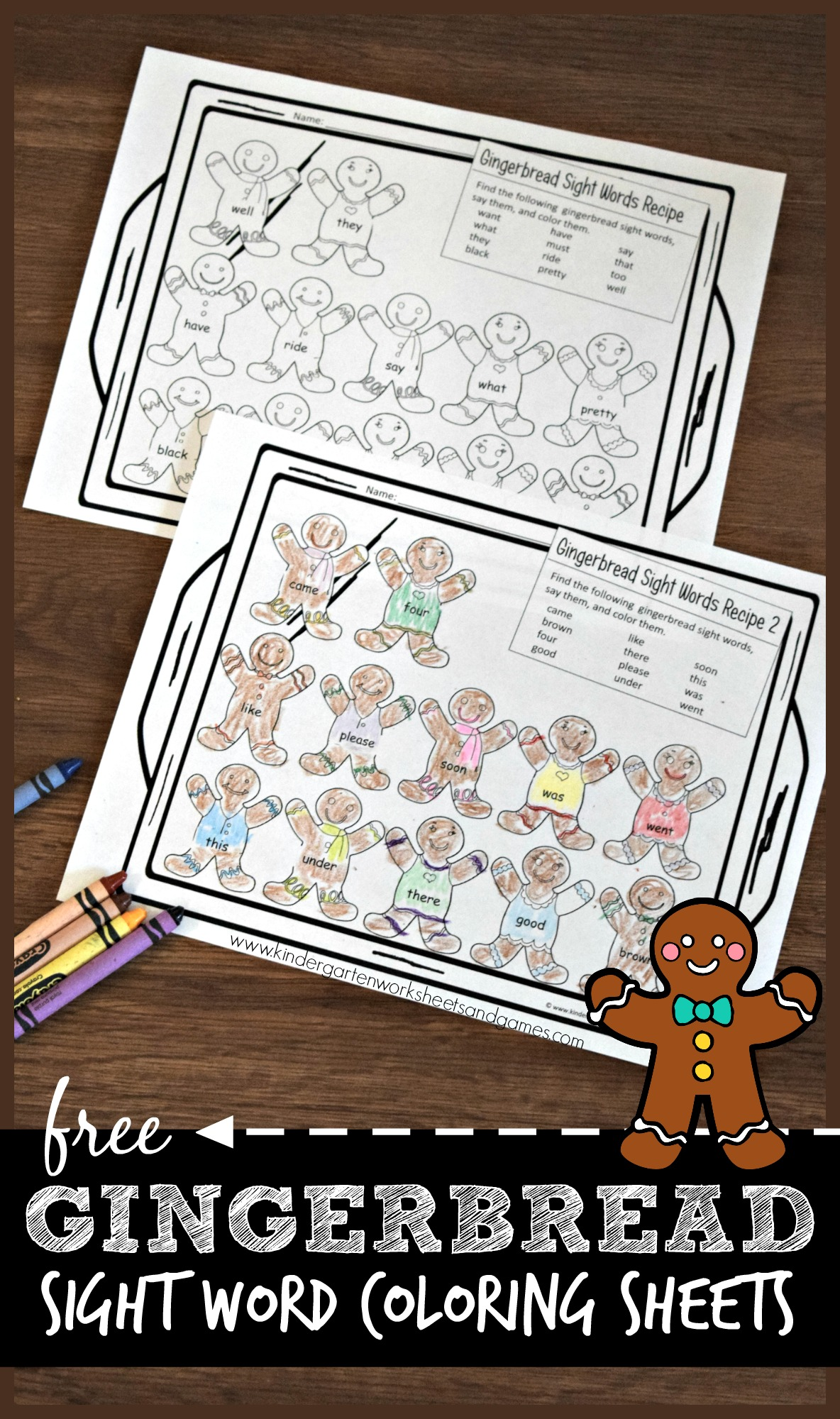 hight resolution of Gingerbread Sight Words Worksheets