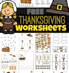 FREE Thanksgiving Worksheets for Kids [ 1591 x 1024 Pixel ]