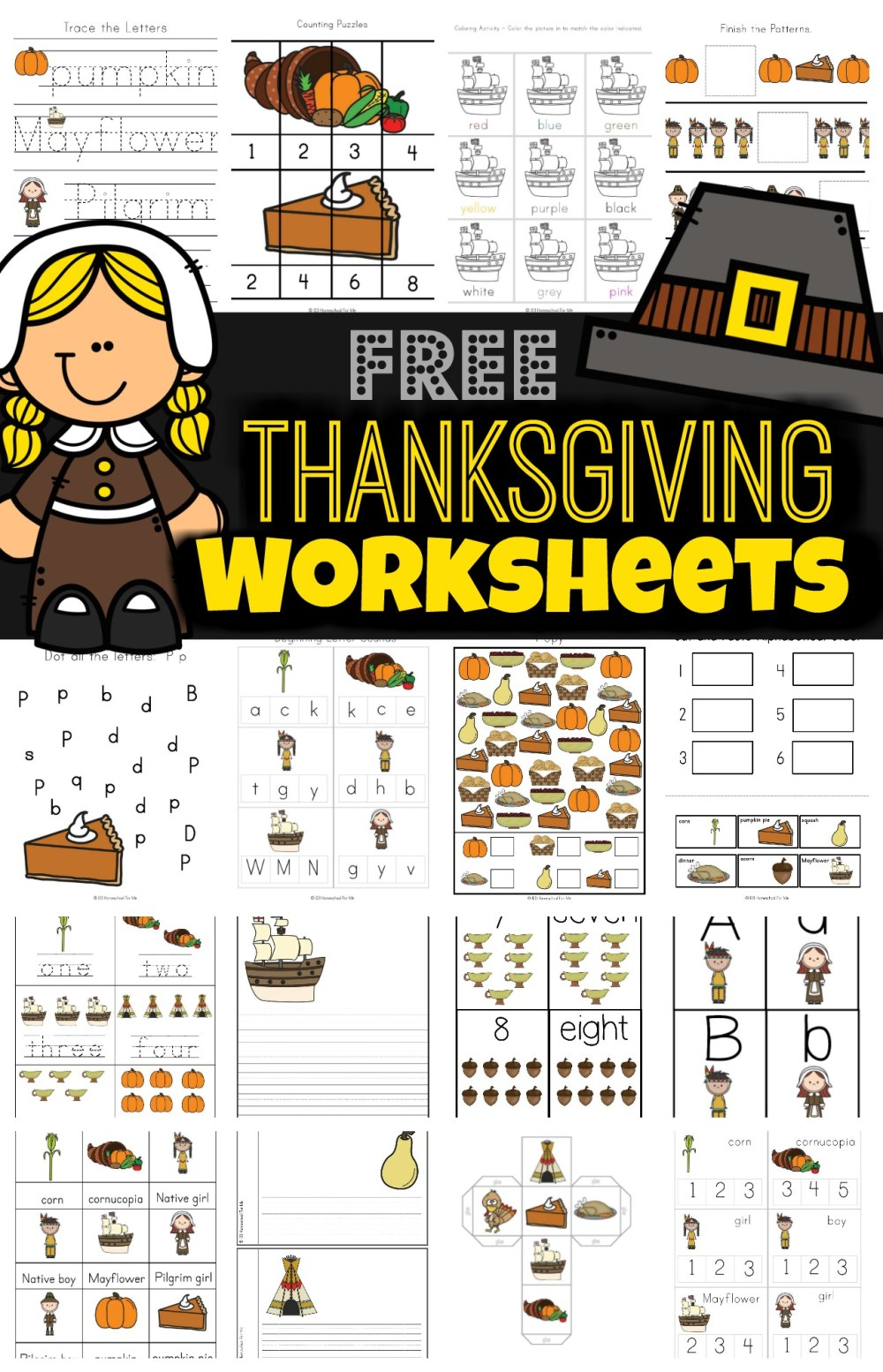 medium resolution of FREE Thanksgiving Worksheets for Kids