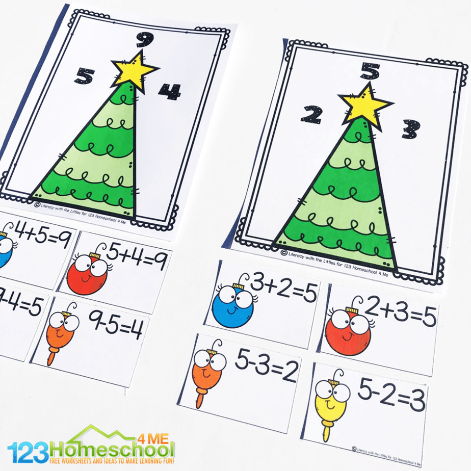 hight resolution of Very Merry Christmas Fact Families Activity