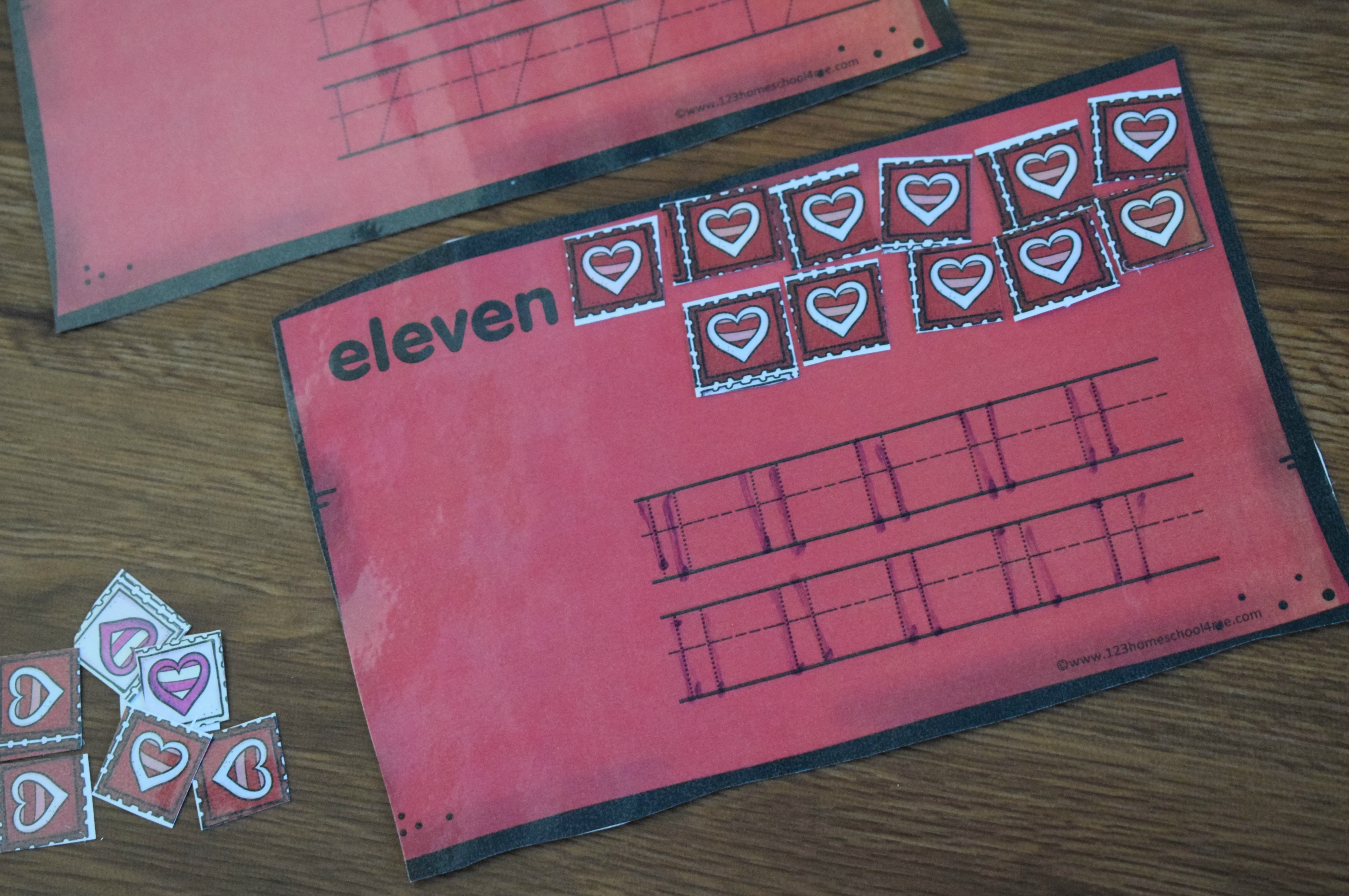 Writing Numbers On Valentines Activity