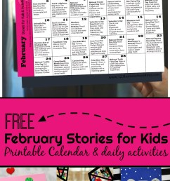 FREE February Books for Kids with Printable Activity Calendar [ 1852 x 1024 Pixel ]