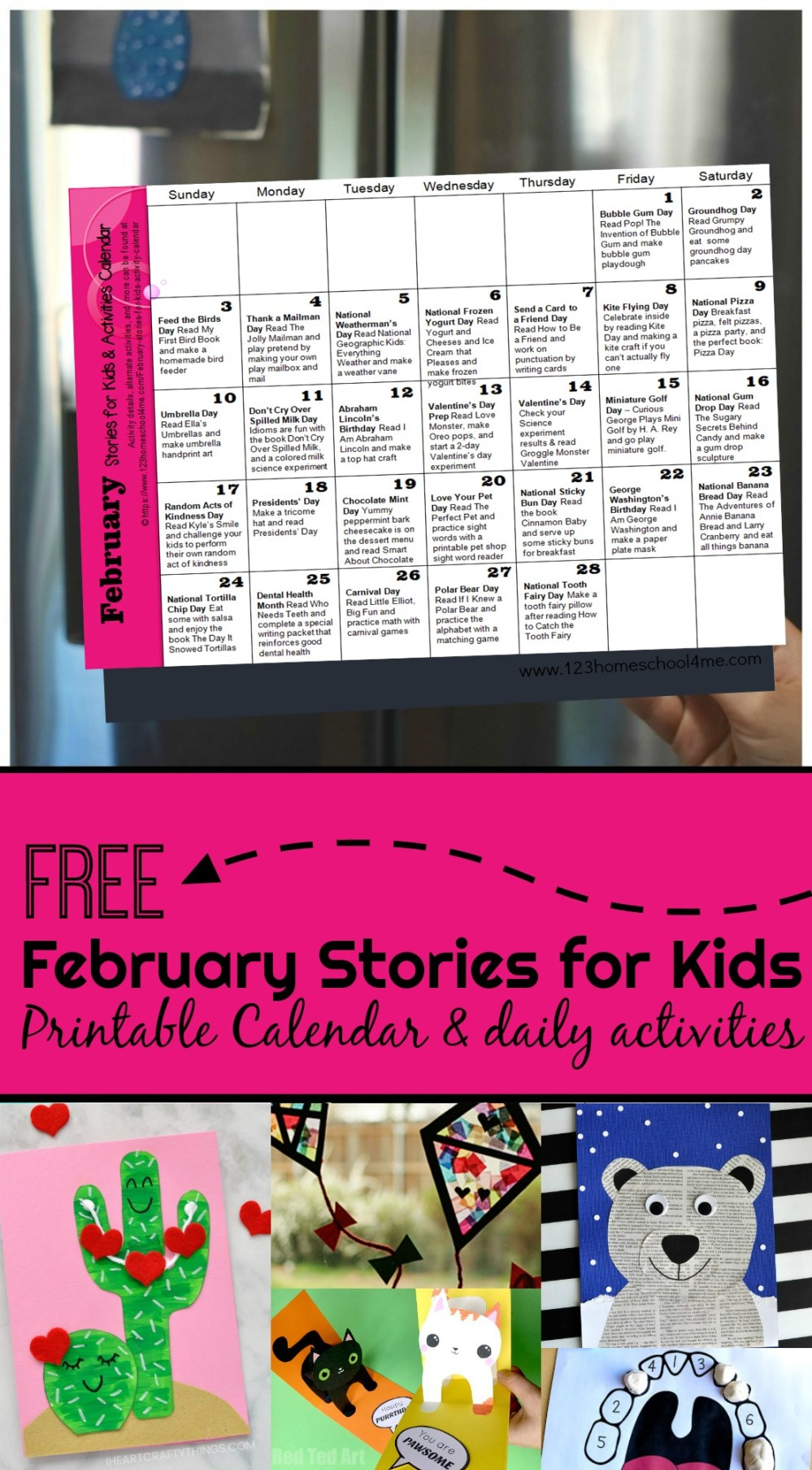 medium resolution of FREE February Books for Kids with Printable Activity Calendar