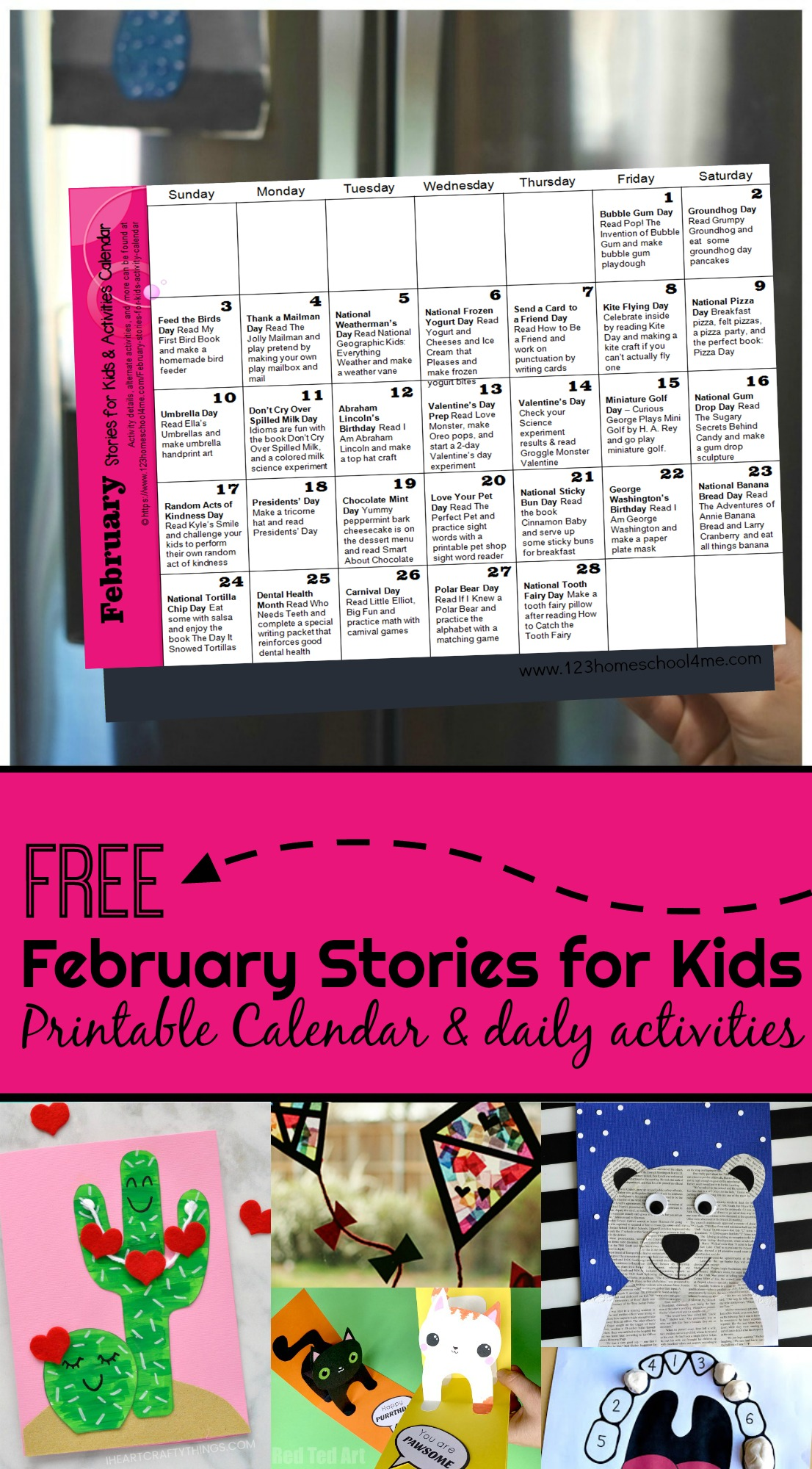 hight resolution of FREE February Books for Kids with Printable Activity Calendar