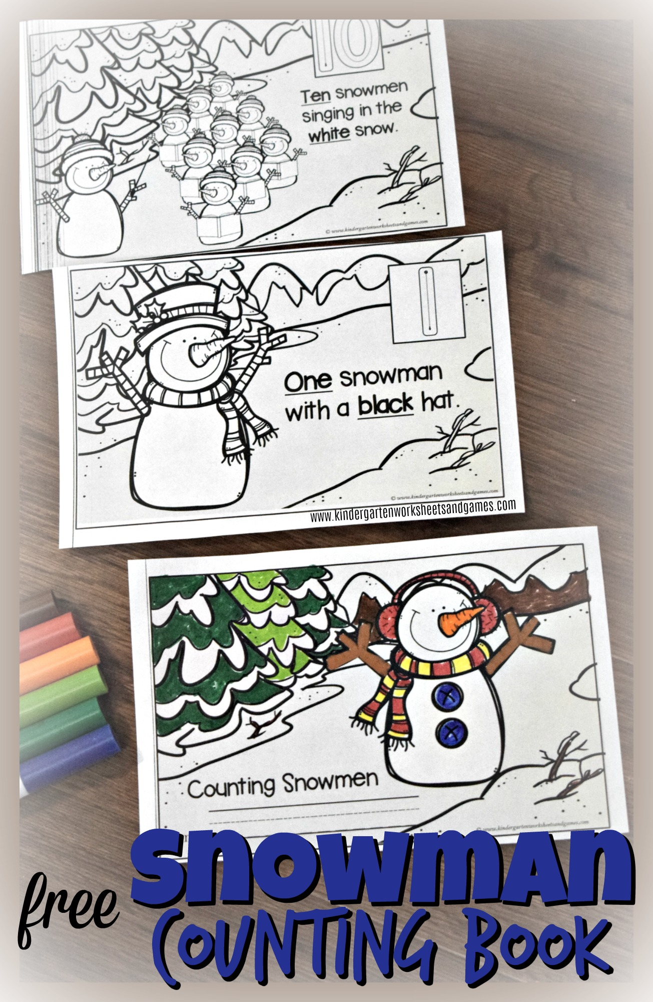 Adorable Counting Snowman Reader