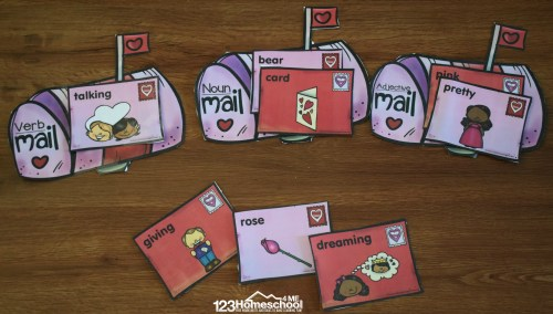 small resolution of FREE Valentine's Day Parts of Speech Sort \u0026 Worksheets