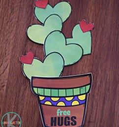 FREE Printable Valentines Day Cactus Craft [ 1191 x 1024 Pixel ]