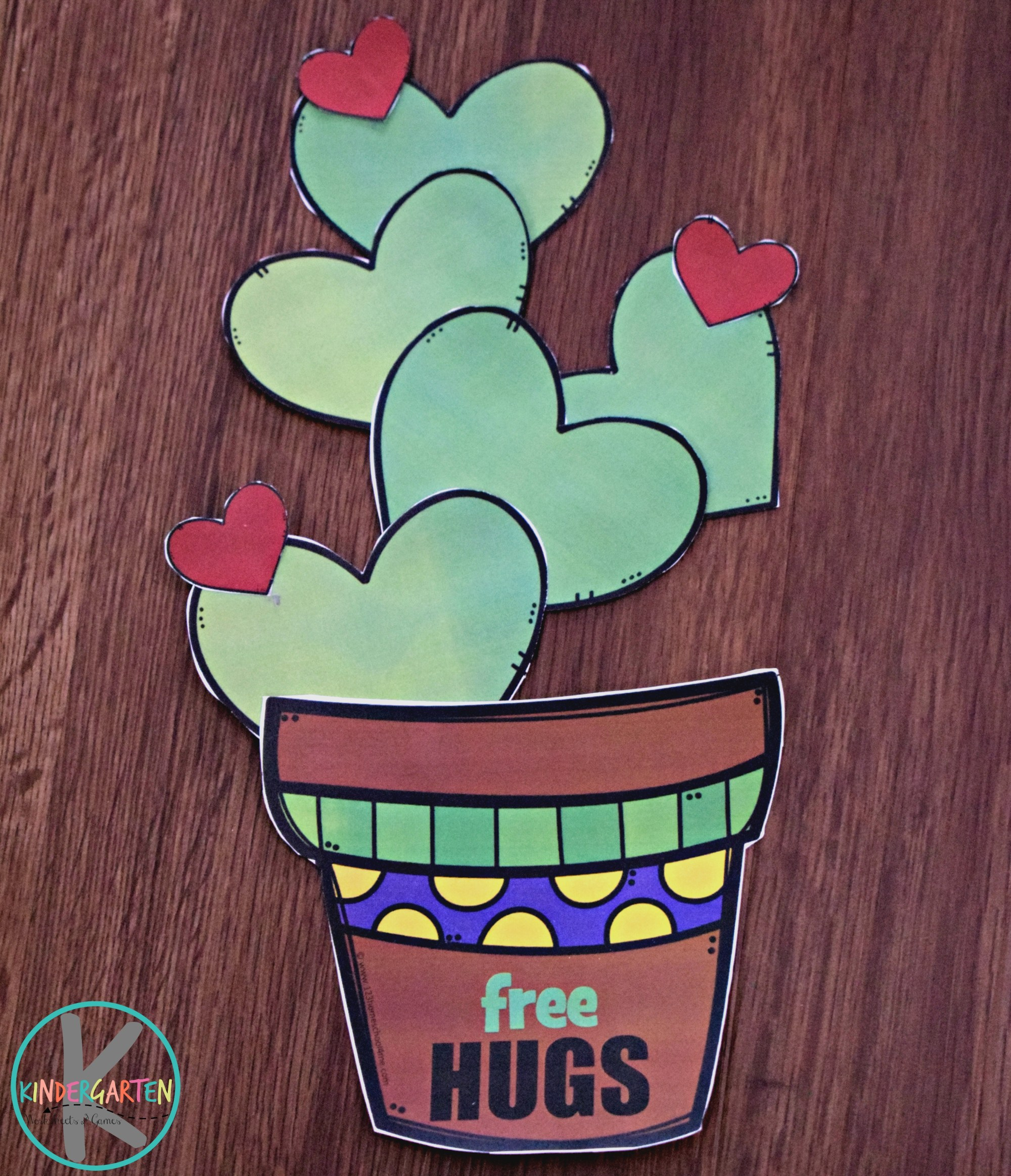 hight resolution of FREE Printable Valentines Day Cactus Craft