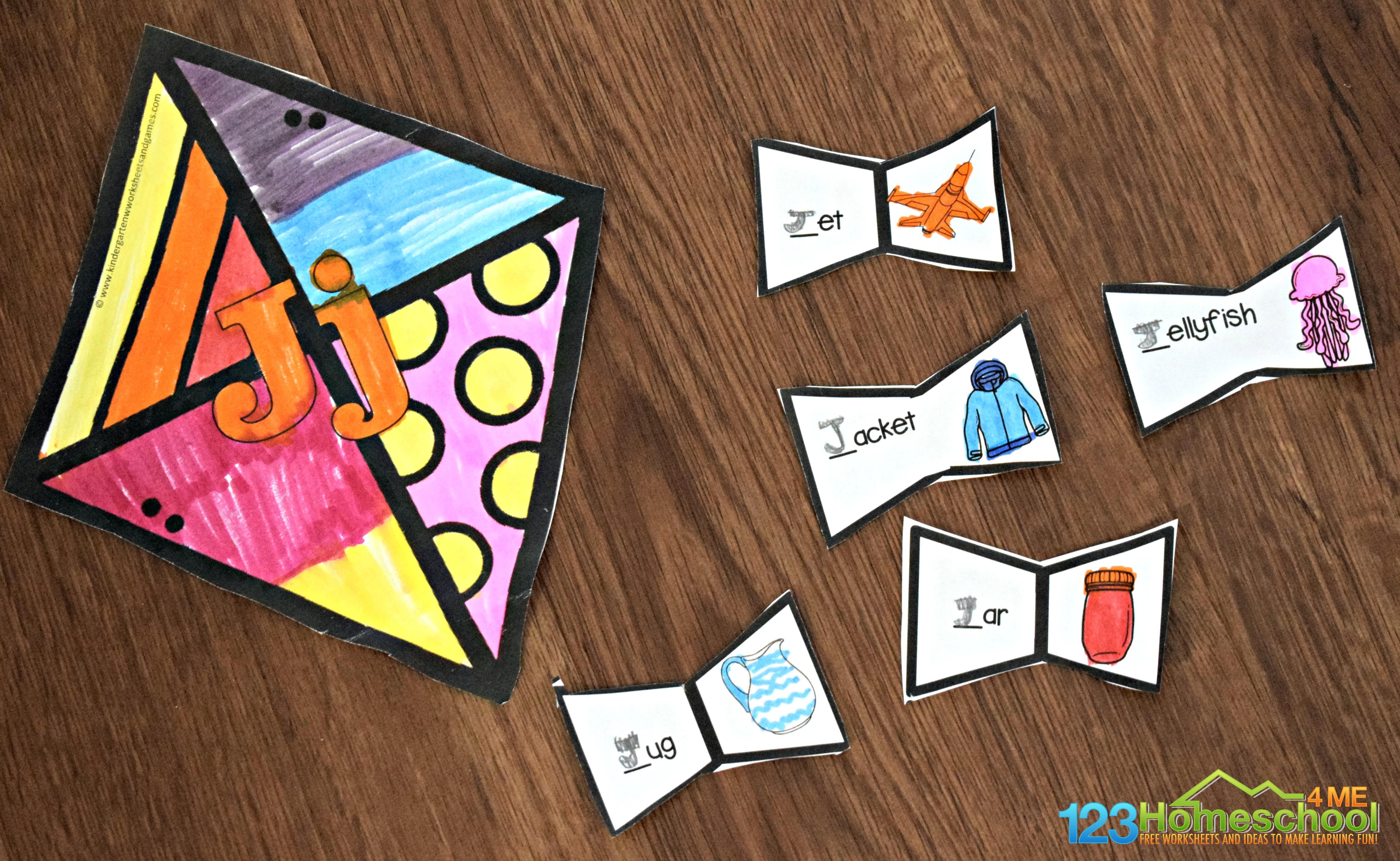 Free Printable Kite Alphabet Craft