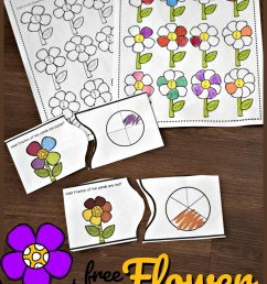 FREE Fraction Flowers Puzzles and Worksheets [ 1491 x 1024 Pixel ]