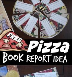 FREE Pizza Reading Comprehension - Fun Book Report Idea [ 1407 x 1024 Pixel ]