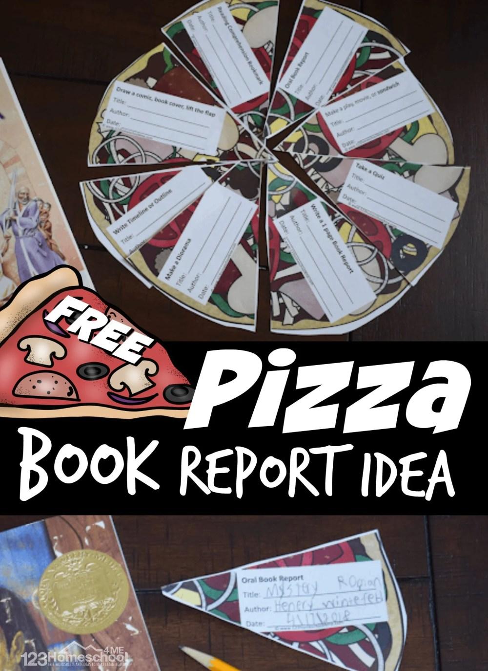 medium resolution of FREE Pizza Reading Comprehension - Fun Book Report Idea