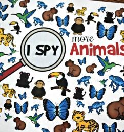 FREE Printable Animal I Spy Worksheets [ 1024 x 1537 Pixel ]