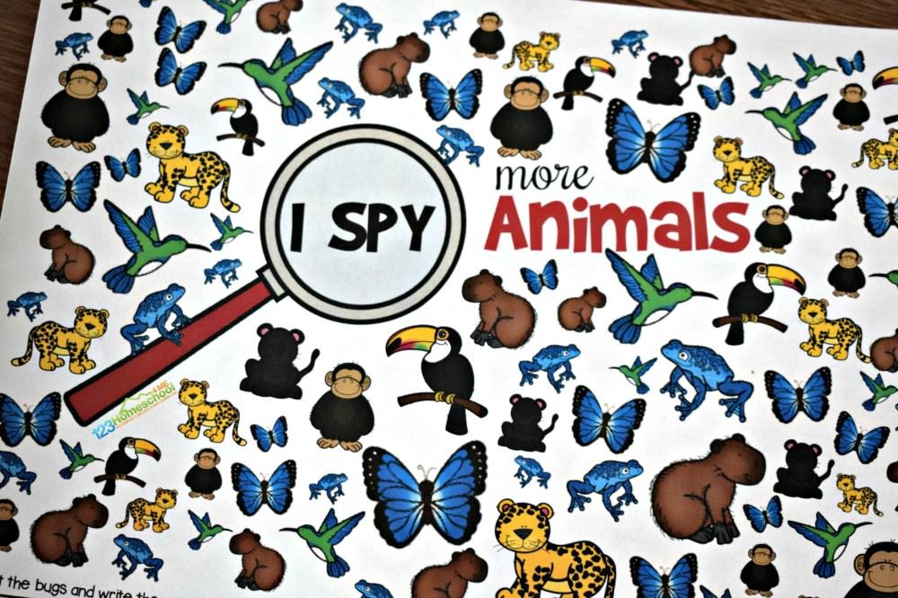 medium resolution of FREE Printable Animal I Spy Worksheets