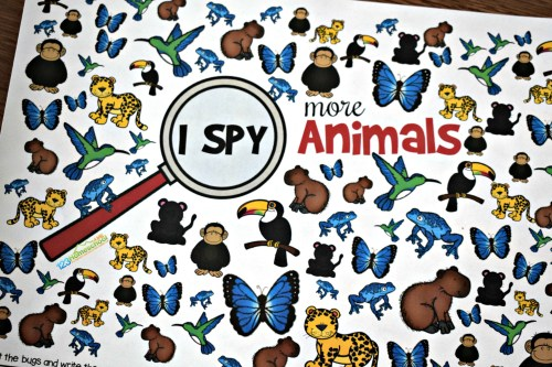 small resolution of FREE Printable Animal I Spy Worksheets