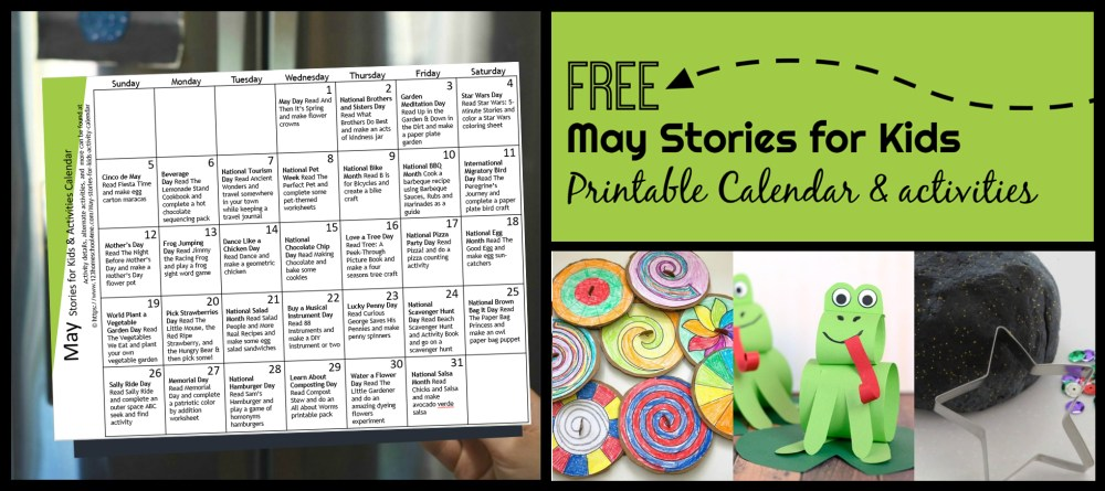 medium resolution of FREE May Activity Calendar with Stories for Kids