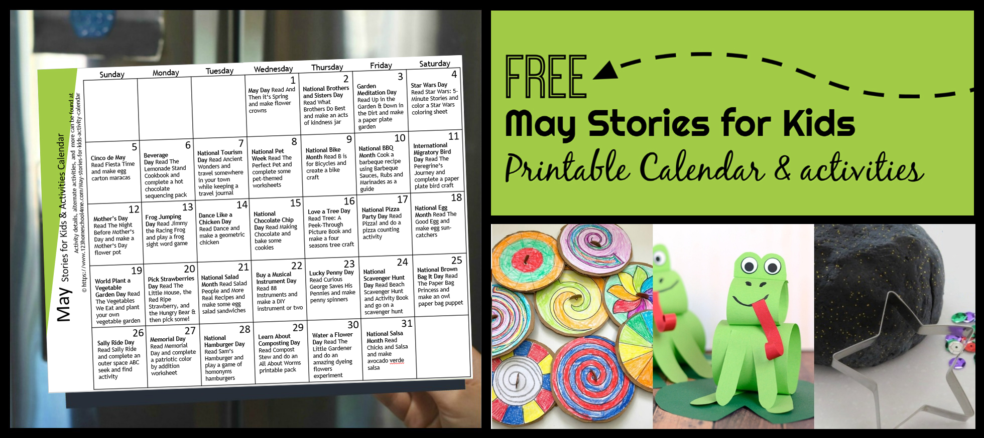 hight resolution of FREE May Activity Calendar with Stories for Kids
