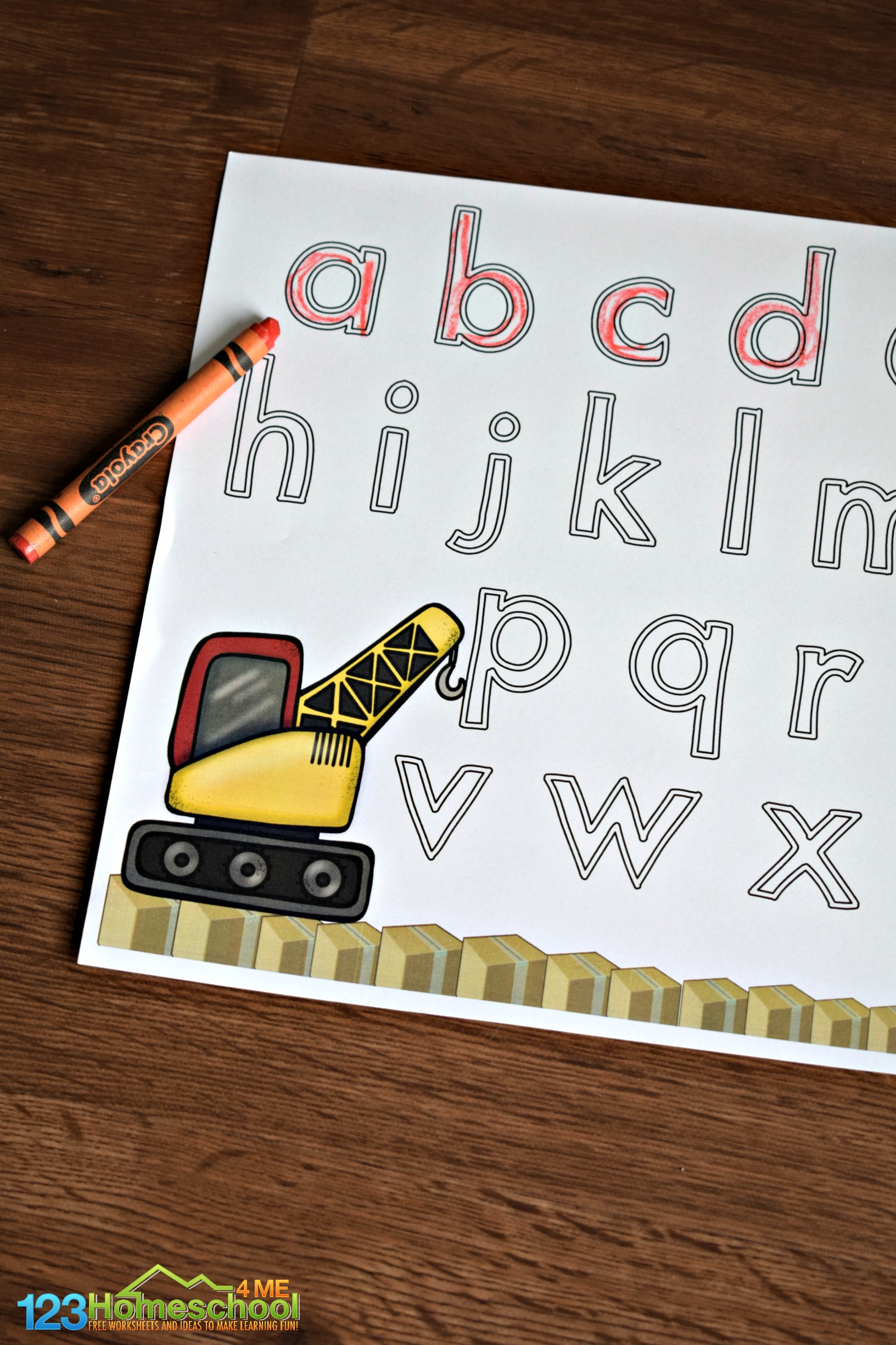 Construction Letter Tracing