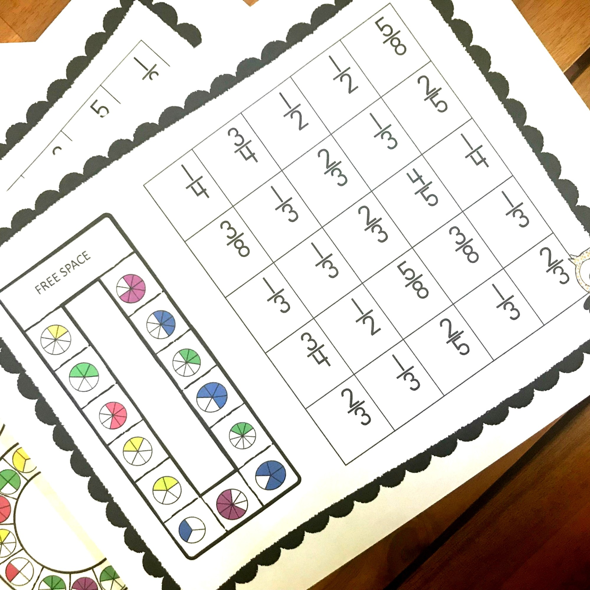 hight resolution of FREE No Prep Printable Fraction Games
