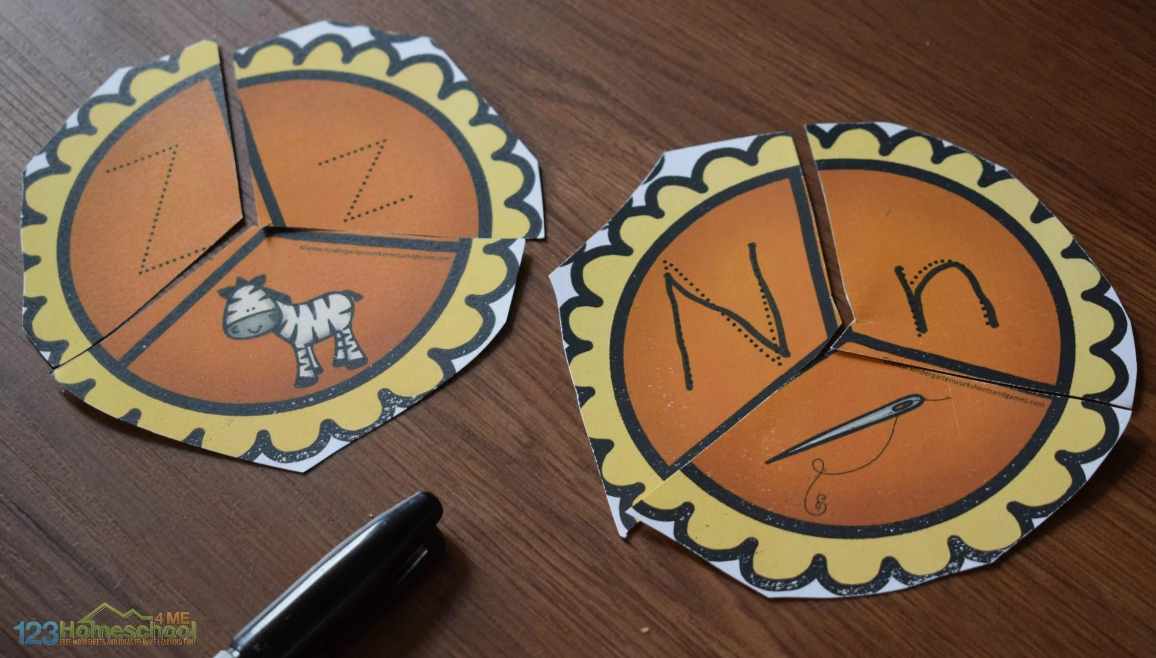 Pumpkin Pie Alphabet Puzzles