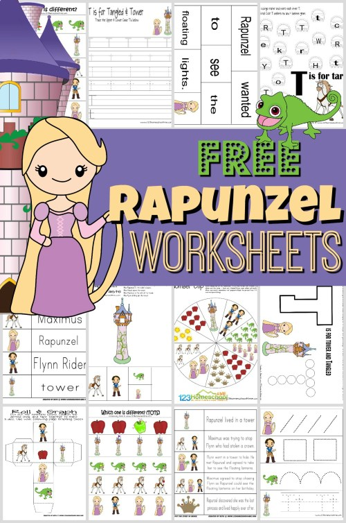 small resolution of FREE Rapunzel Worksheets for Kids