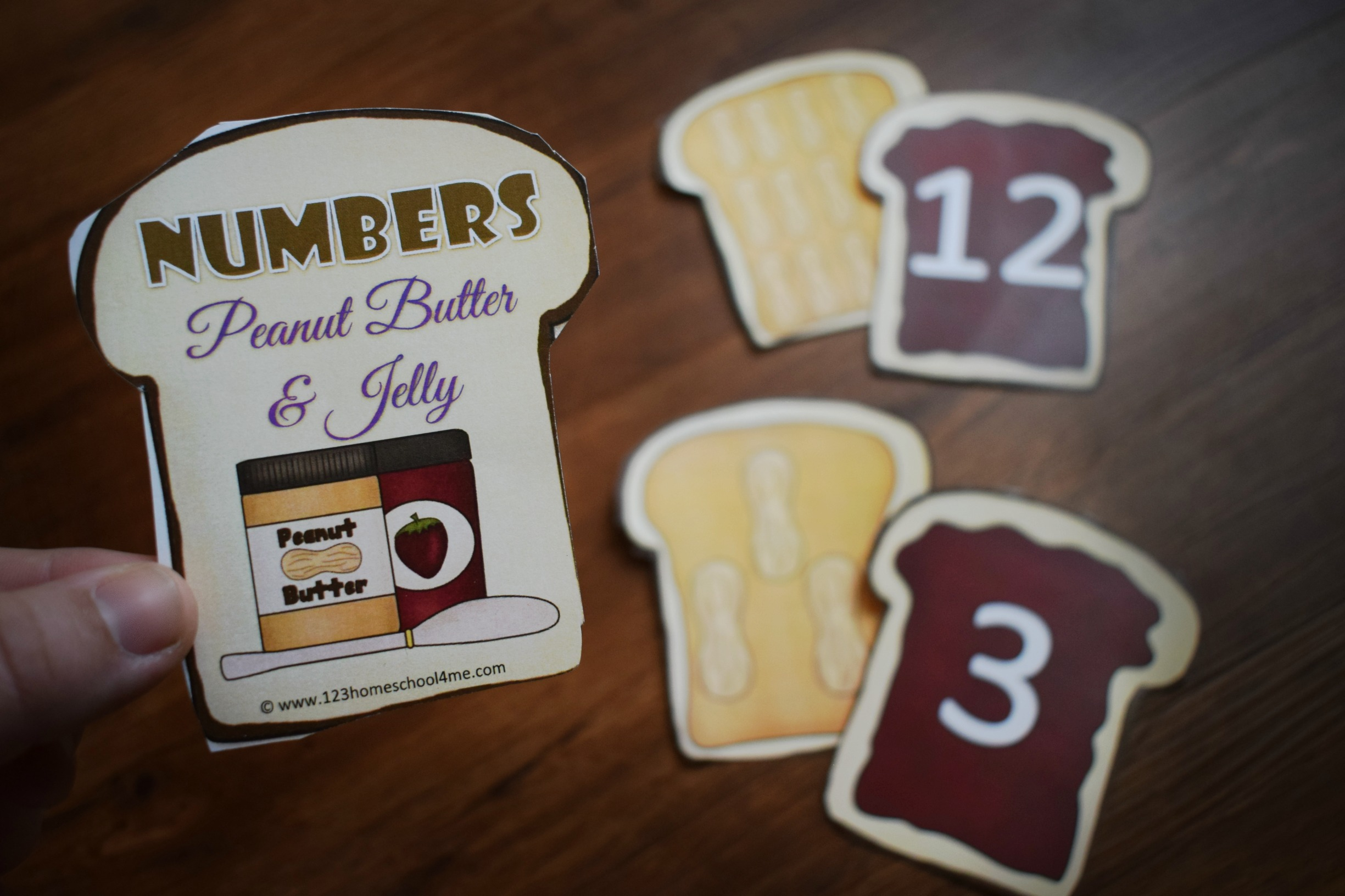 Count And Match Peanut Butter And Jelly Sandwiches