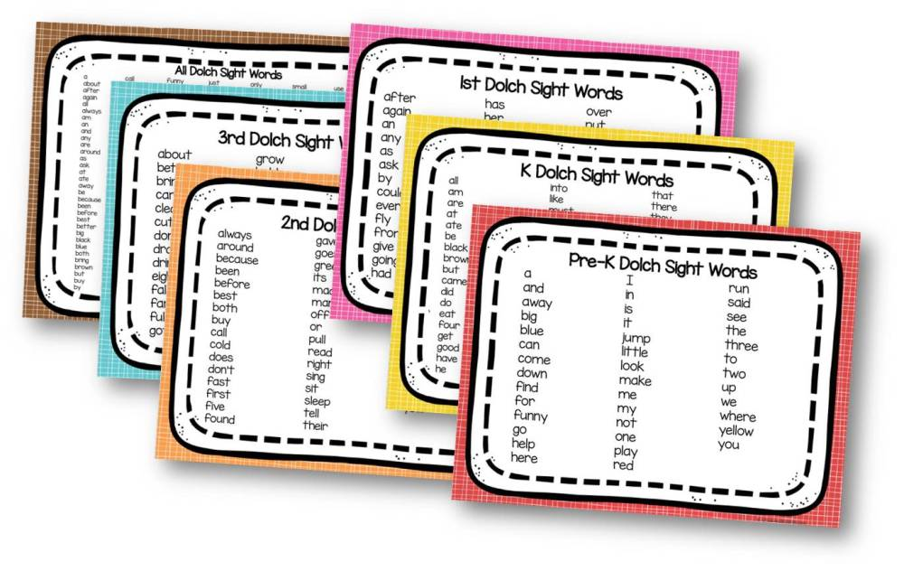 medium resolution of FREE Printable Sight Words List