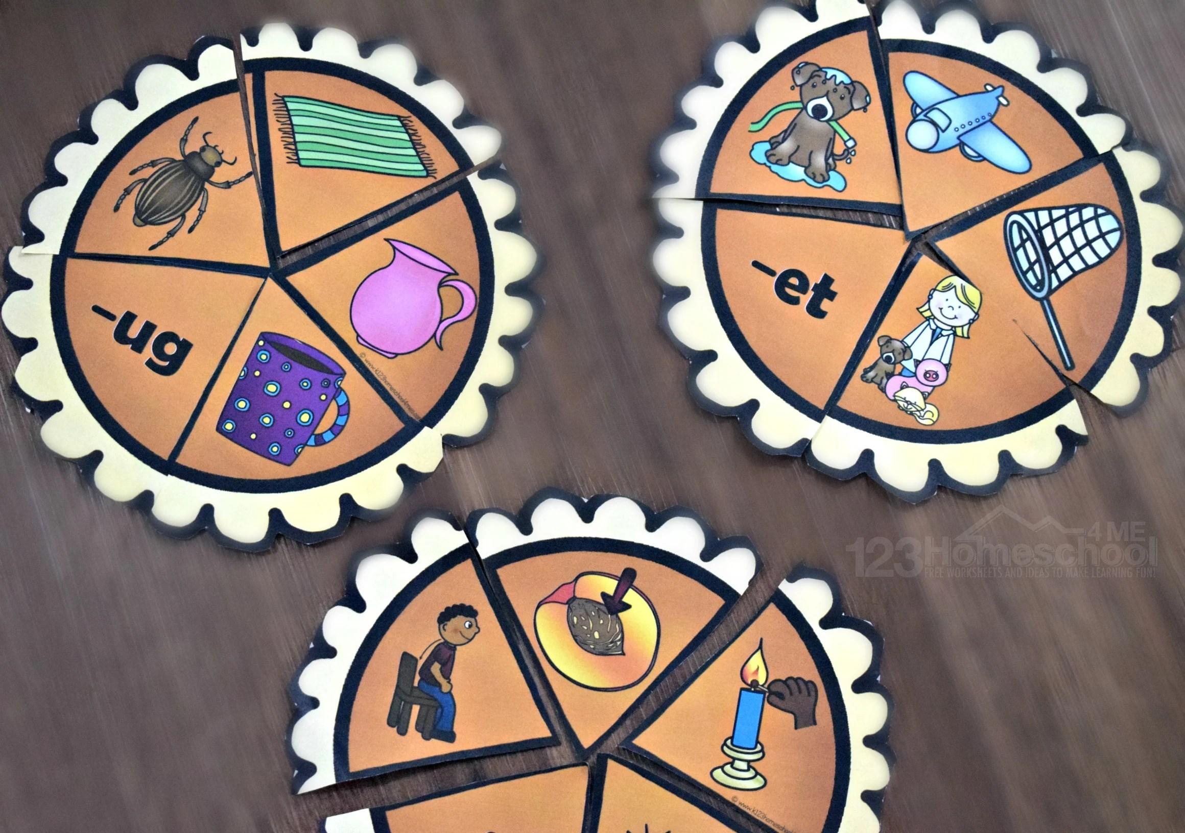Pumpkin Pie Word Family Activities