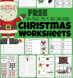 🎅🏻 FREE Christmas Worksheets [ 1601 x 1024 Pixel ]