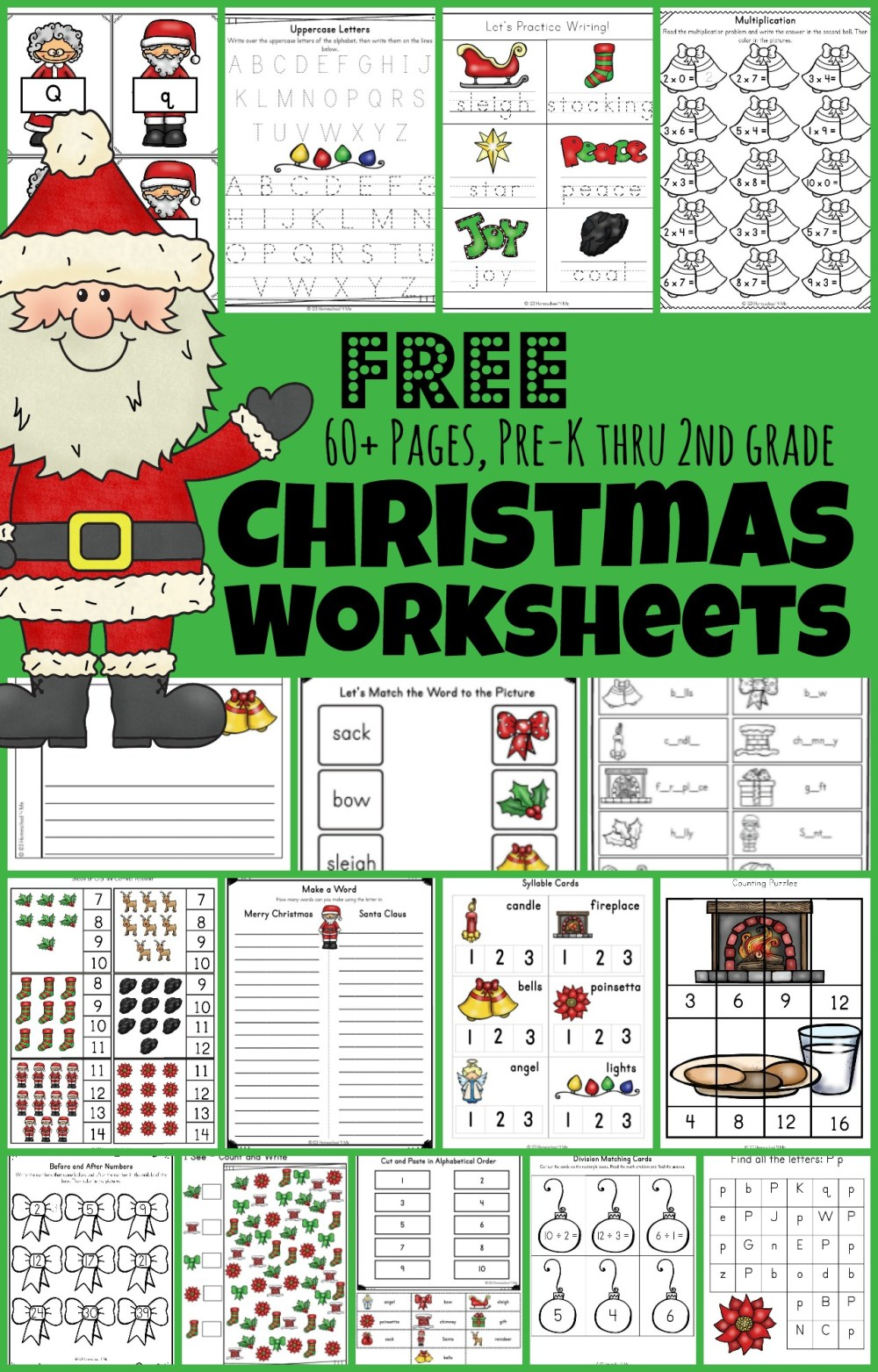 medium resolution of 🎅🏻 FREE Christmas Worksheets