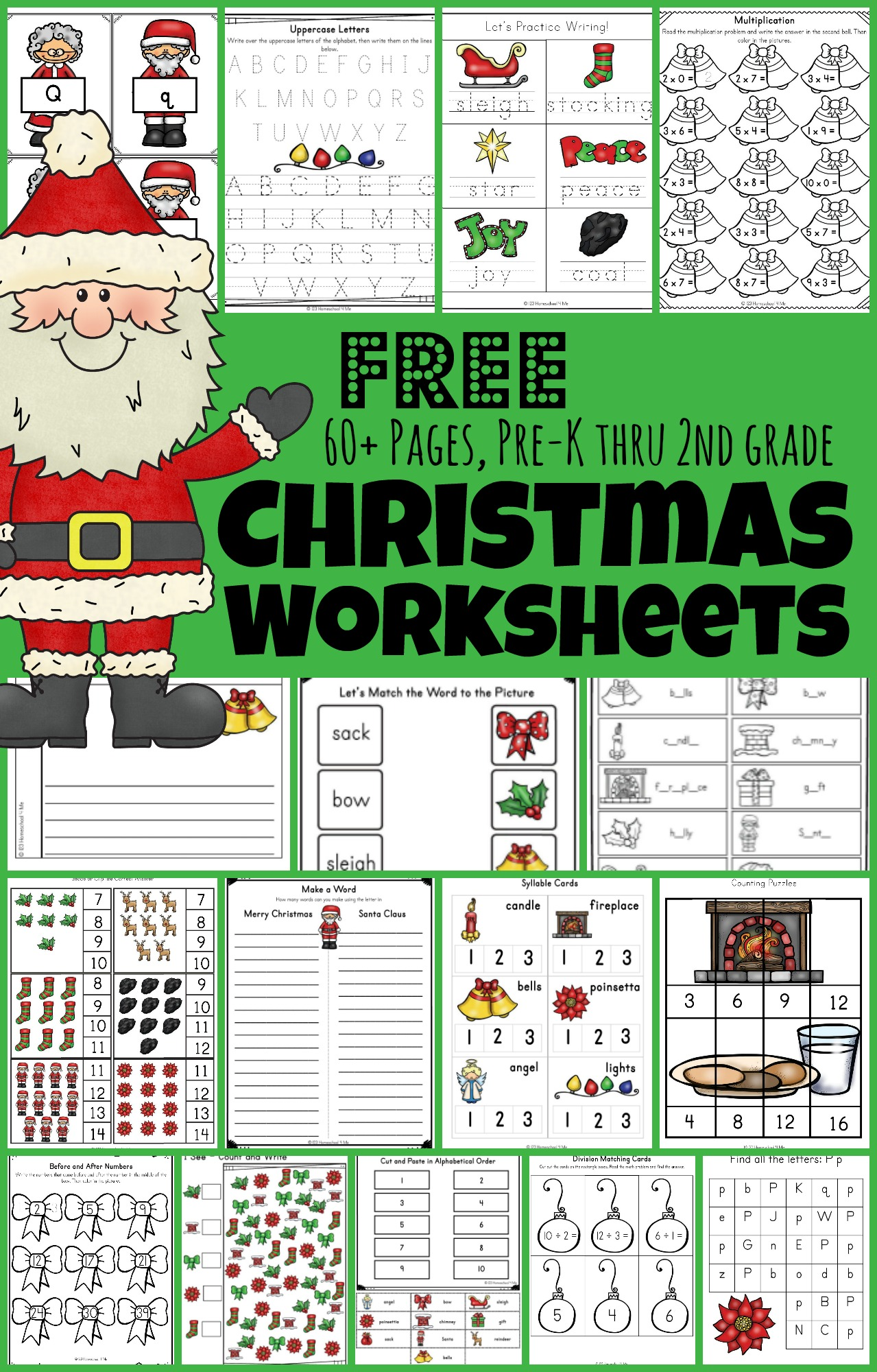 hight resolution of 🎅🏻 FREE Christmas Worksheets