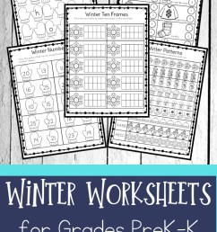 FREE Winter Worksheets for Preschool \u0026 Kindergartners [ 1102 x 735 Pixel ]
