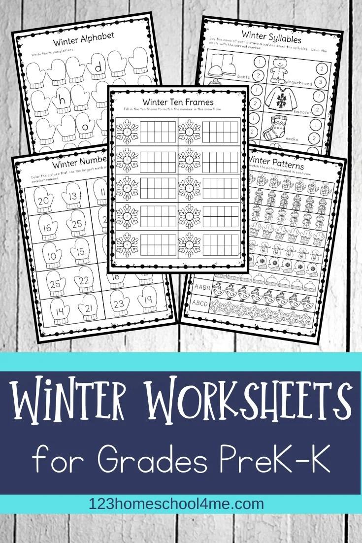 medium resolution of FREE Winter Worksheets for Preschool \u0026 Kindergartners