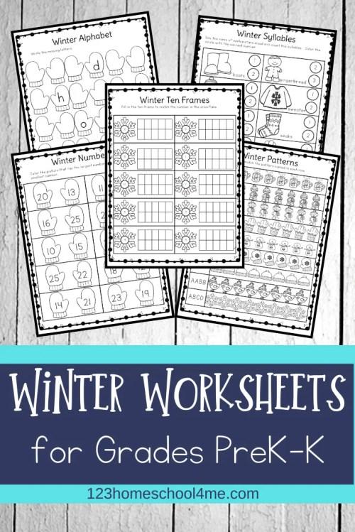 small resolution of FREE Winter Worksheets for Preschool \u0026 Kindergartners