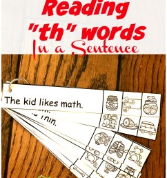 FREE TH Worksheets - Reading th words in a Sentence [ 1346 x 1024 Pixel ]