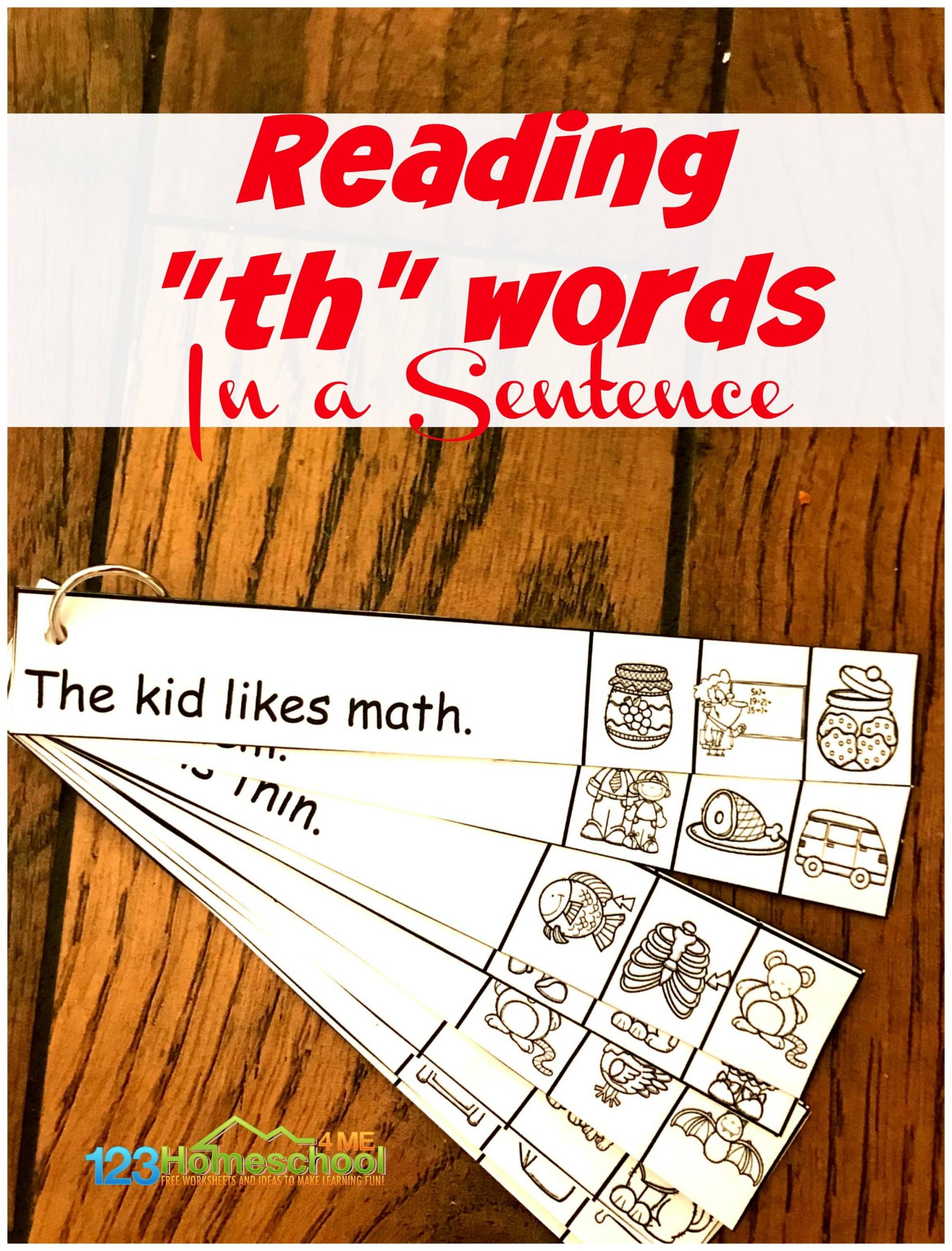 hight resolution of FREE TH Worksheets - Reading th words in a Sentence
