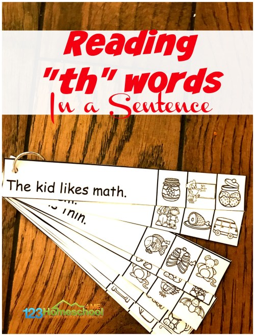 small resolution of FREE TH Worksheets - Reading th words in a Sentence