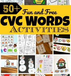50 Fun CVC Words Activities [ 1405 x 920 Pixel ]