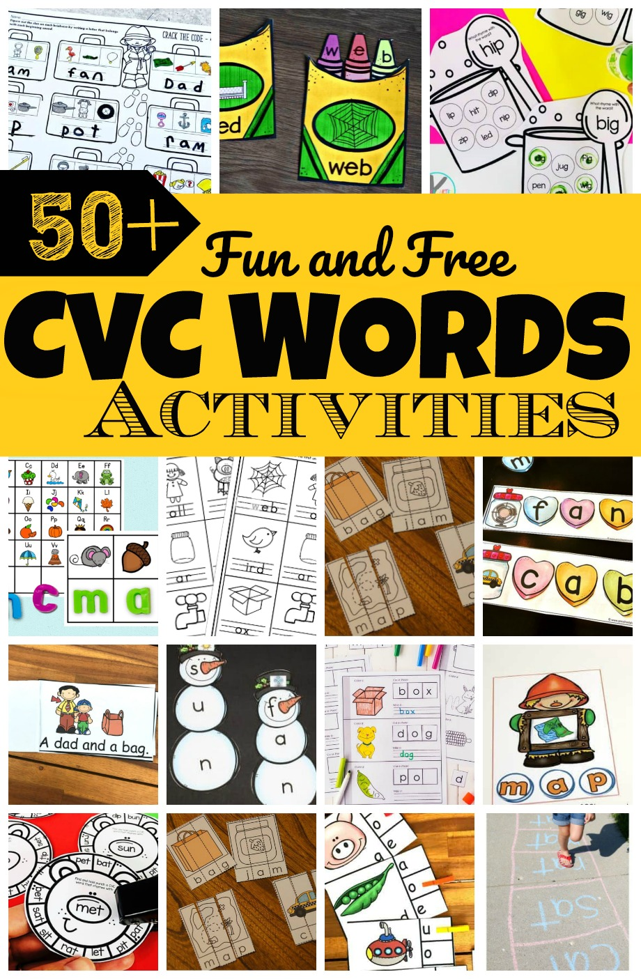 medium resolution of 50 Fun CVC Words Activities