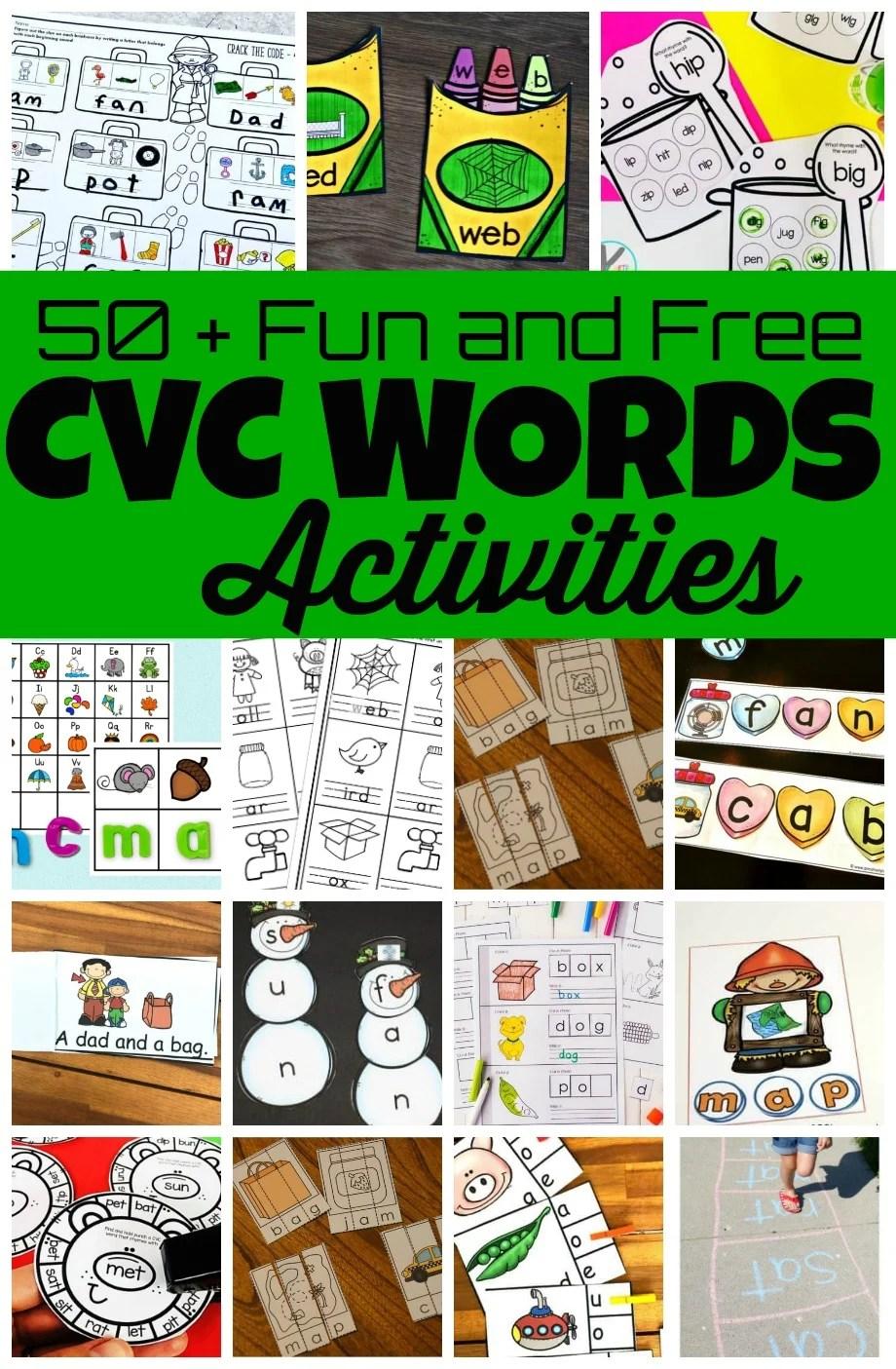 hight resolution of 50 Fun CVC Words Activities