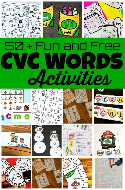 small resolution of 50 Fun CVC Words Activities