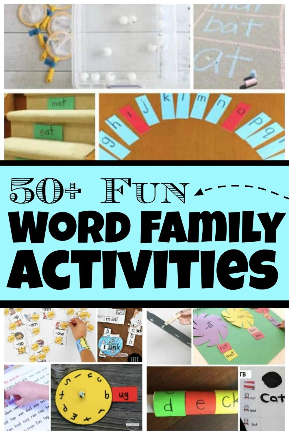 medium resolution of 50+ FUN Word Family Activities