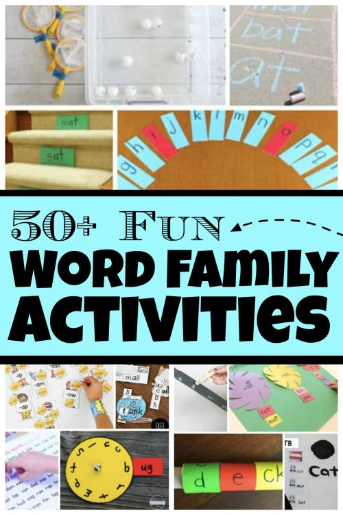 small resolution of 50+ FUN Word Family Activities