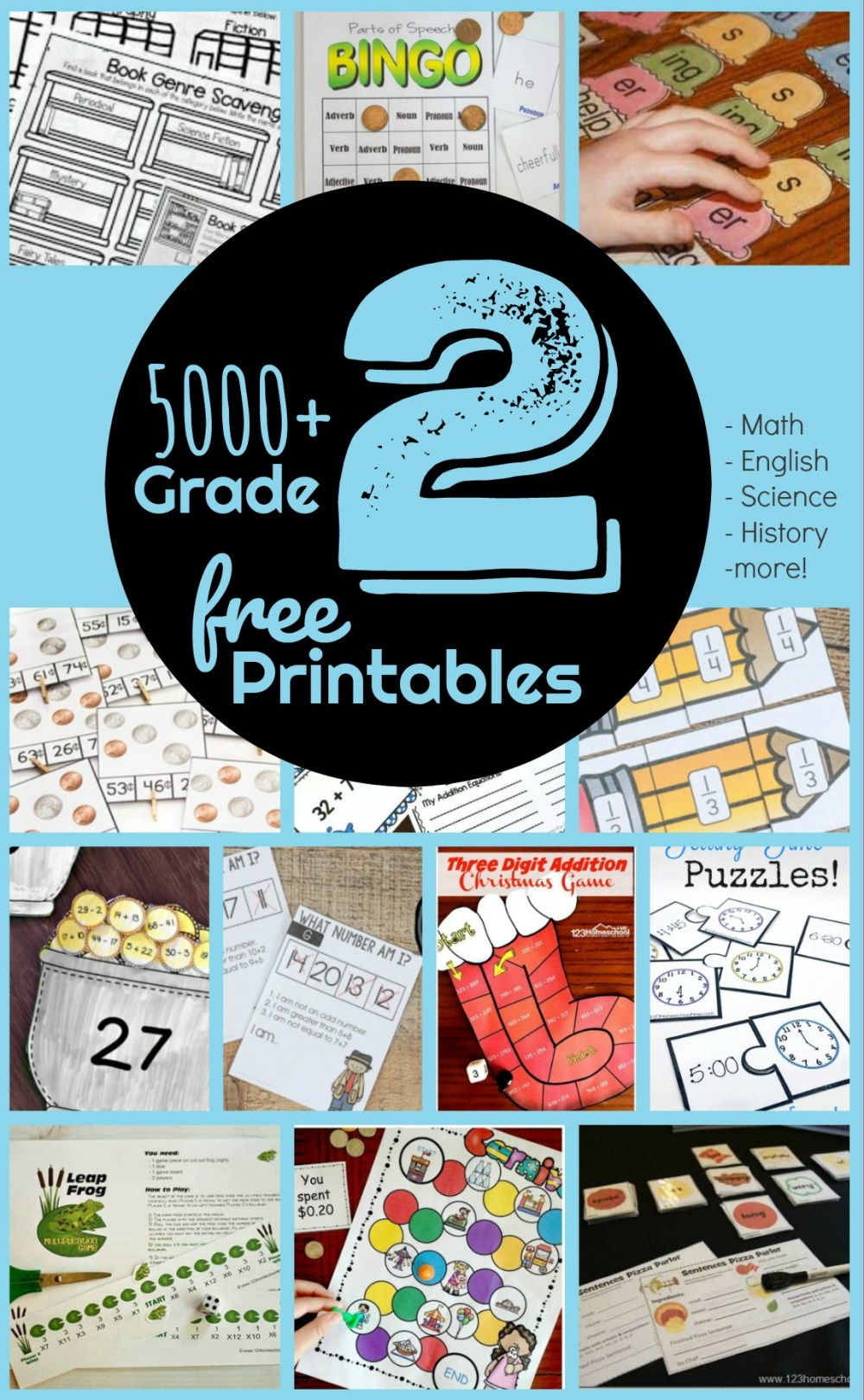 medium resolution of FREE 2nd Grade Worksheets - 123 Homeschool 4 Me