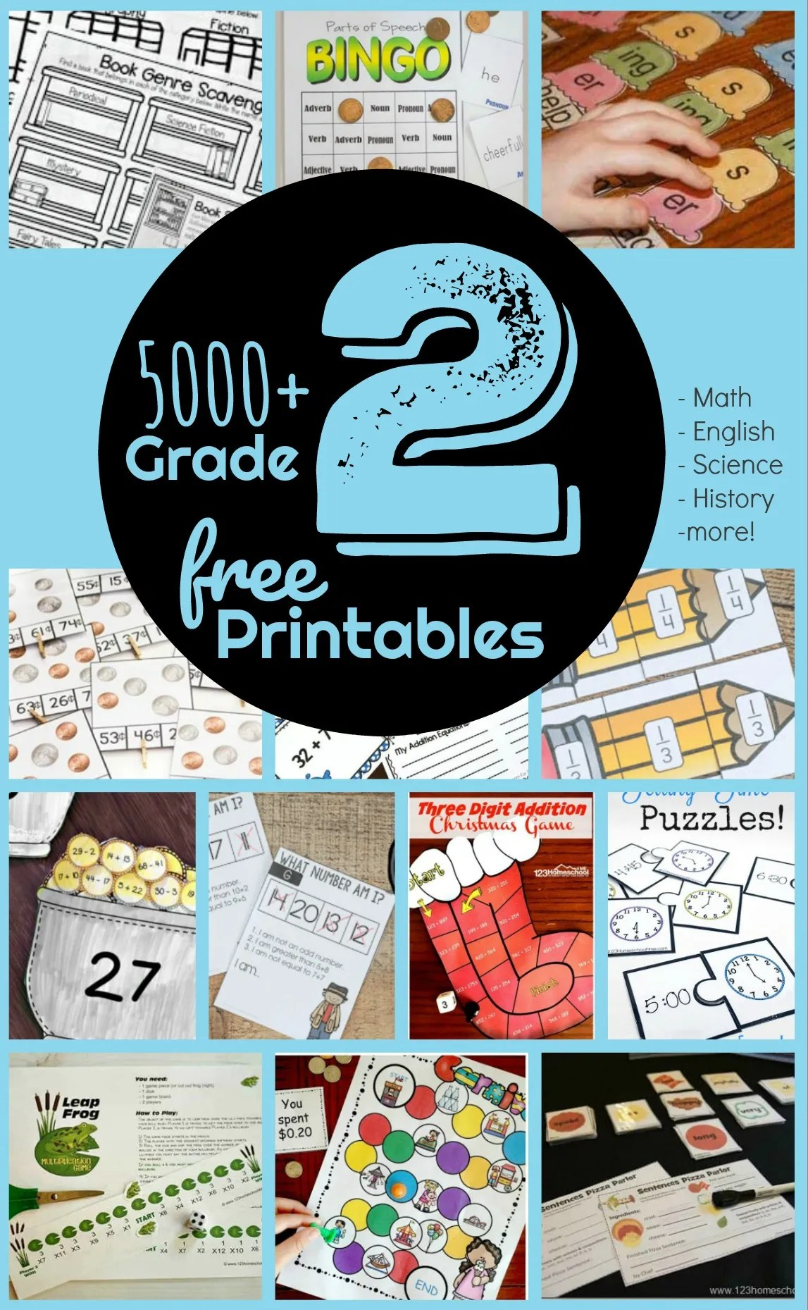 hight resolution of FREE 2nd Grade Worksheets - 123 Homeschool 4 Me