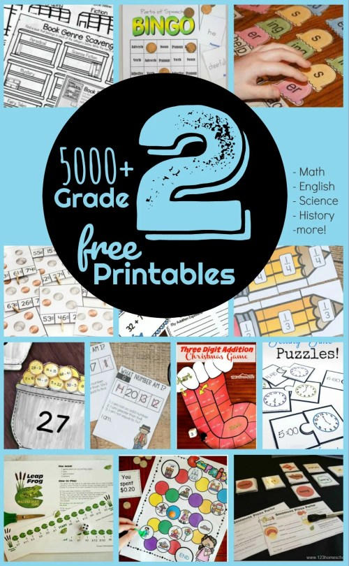 small resolution of FREE 2nd Grade Worksheets - 123 Homeschool 4 Me